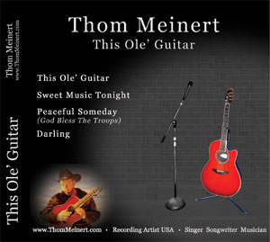 Click here to hear a sample of Thom Meinert's four latest hits.